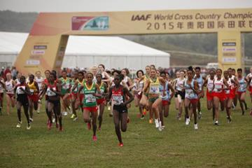 The start of the junior women's race at the IAAF World Cross Country Championships, Guiyang 2015 (Getty Images)
