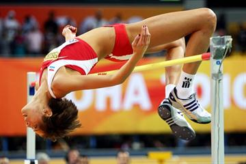 Blanka Vlasic of Croatia in action during the High Jump final (Getty Images)