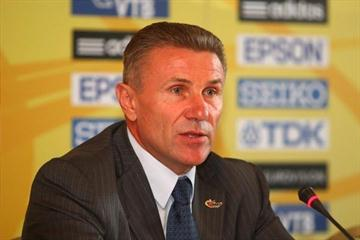 IAAF Senior Vice President Sergey Bubka at the Press Conference ahead of the IAAF/VTB Bank World Athletics Final (Getty Images)