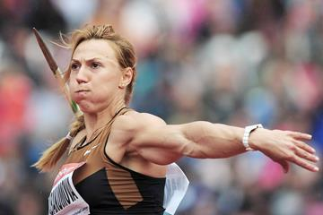 Russian javelin thrower Maria Abakumova in action (Getty Images)