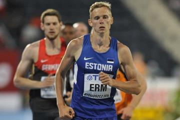 Johannes Erm in the decathlon 1500m at the IAAF World U20 Championships Bydgoszcz 2016 (Getty Images)