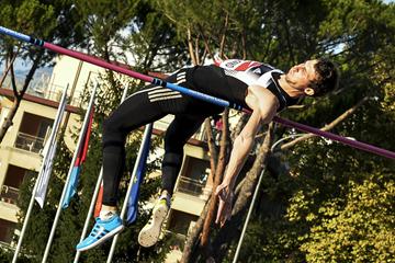 Bogdan Bondarenko in action in the high jump (AFP / Getty Images)