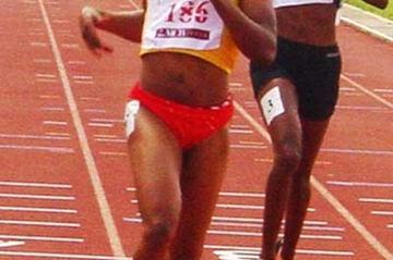Vida Anim wins the 200m at the African Championships (Mark Ouma)