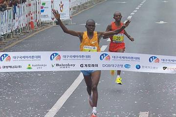 James Kwambai wins the Daegu Marathon (Organisers)