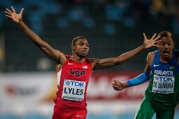Noah Lyles wins the 100m at the IAAF World U20 Championships Bydgoszcz 2016 (Getty Images)