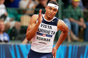 US sprinter Michael Norman in the 200m (Getty Images)