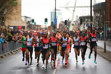 The early stages of the men's race at the IAAF/Cardiff University World Half Marathon Championships Cardiff 2016 (Getty Images)