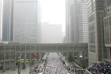 Start of the 2007 Tokyo Marathon (Kazutaka Eguchi/Agence SHOT)