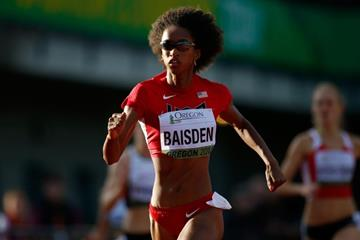 Kendall Baisden in the 400m at the IAAF World Junior Championships, Oregon 2014 (Getty Images)