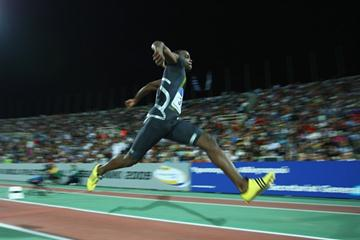 Cuba's David Giralt springs a surprise in the men's triple jump with a winning leap of 17.45m (Getty Images)