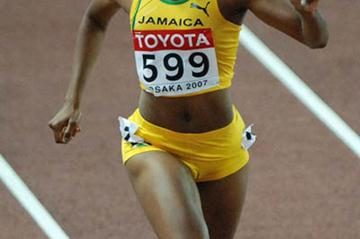Nickeisha Wilson (JAM) finishing fourth in Osaka (Anthony Foster)