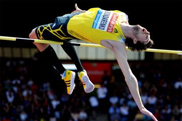 Bogdan Bondarenko wins the high jump at the Birmingham Diamond League (Mark Shearman)