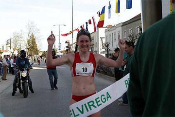 German Melanie Seeger after her win in Rio Maior (loc)