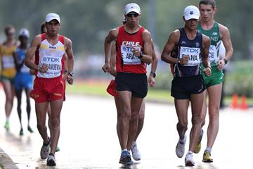 India's Basanta Rana (right) at the 2013 IAAF World Championships (Getty Images)