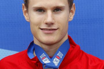Russia's Aleksey Fedorov, winner of the men's Triple Jump in Moncton (Getty Images)