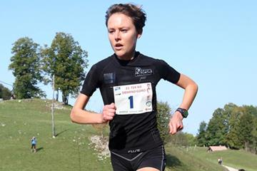 Slovenia's Mateja Kosovelj in action at the 2012 WMRA Grand Prix in Smarna Gora (WMRA)
