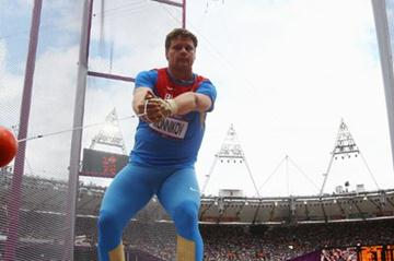 Kirill Ikonnikov of Russiacompetes during the Men's Hammer Throw qualification on Day 7 of the London 2012 Olympic Games at Olympic Stadium on August 3, 2012  (Getty Images)