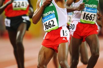Kenenisa Bekele celebrates his second Olympic 10,000m victory (Getty Images)