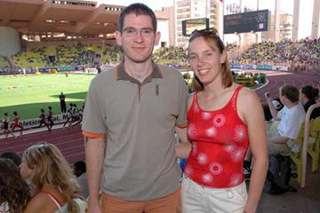 Christine Bertram and her boyfriend at World Athletics Final (IAAF)