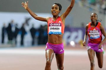 Genzebe Dibaba - national record in Shanghai (Errol Anderson)