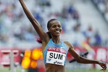 Eunice Sum wins the 800m (AFP / Getty Images)