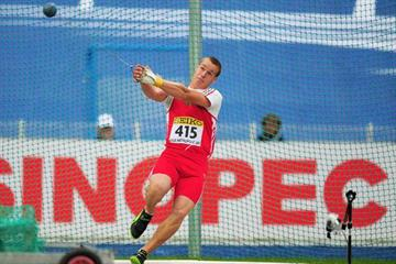 Bence Pasztor of Hungary wins the Boys' World Hammer Throw Youth title (Getty Images)