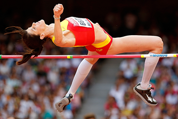 Ruth Beitia in the high jump at the IAAF World Championships Beijing 2015 (Getty Images)