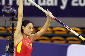 Li Ling, winner of the pole vault at the Asian Indoor Championships (Organisers)
