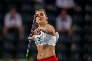 Klaudia Maruszewska in the javelin at the IAAF World U20 Championships Bydgoszcz 2016 (Getty Images)
