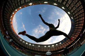 Action shot in the womens Triple Jump at the IAAF World Athletics Championships Moscow 2013 (Getty Images)