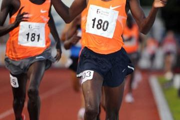 Josphat Bett Kipkoech wins in Liège on 15 July 2009 (Nadia Verhoft)