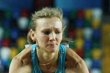 Olga Rypakova of Kazhakhstan competes in the Women's Triple Jump qualification Day One WIC Istanbul (Getty Images)