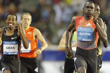 David Rudisha wins in Brussels to secure the 2011 Diamond Race title at 800m (Gladys Chai van der Laage)