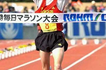 Jose Rios of Spain wins the 59th annual Lake Biwa Marathon (AFP/Getty Images - JIJI Press)