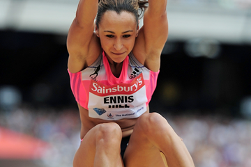 Jessica Ennis-Hill at the IAAF Diamond League meeting in London (Getty Images)
