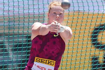 Betty Heidler, winner of the hammer in Tokyo (Getty Images)