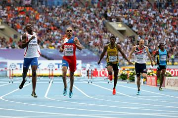 Omar Cisneros in the mens 400m Hurdles at the IAAF World Championships Moscow 2013 (Getty Images)