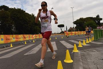 Erin Talcott in the 50km at the IAAF World Race Walking Team Championships Rome 2016 (Getty Images)