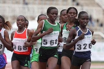 Vivian Cheruiyot in the 10,000m at the 2011 National Bank of Kenya National Athletics Championships  (Boniface Okendo )