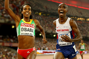 Genzebe Dibaba and Mo Farah (Getty Images)