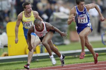 Colin Jackson wins fourth European 110m Hurdles title (Getty Images)