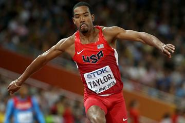 Christian Taylor in the triple jump at the IAAF World Championships, Beijing 2015 (Getty Images)