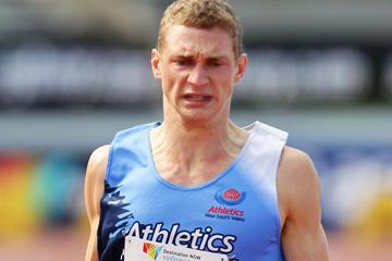 Steve Solomon cruises to the Australian junior 400m title in Sydney (Getty Images)