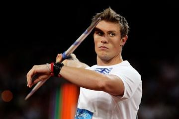 Andreas Thorkildsen sets an Olympic record of 90.57m (Getty Images)