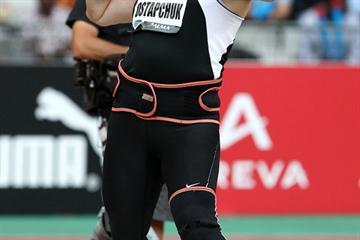 Nadzeya Ostapchuk puts 20.78m to take the victory in Paris (Errol Anderson)