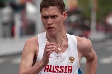 Mikhail Ryzhov at the 2014 IAAF World Race Walking Cup (Getty Images)