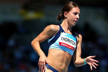Jessica Thornton in action at the Australian Junior Championships (Getty Images)