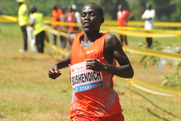 Mande Bushendich wins the junior men's race at the Ugandan Cross Country Championships (Namayo Mawerere)