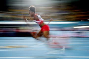 Tianna Bartoletta in the 4x100m at the IAAF/BTC World Relays, Bahamas 2015 (Getty Images)