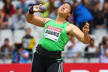 Valerie Adams sets a meeting record at the Paris Diamond League (Errol Anderson)